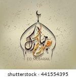 illustration of eid mubarak and ... | Shutterstock .eps vector #441554395