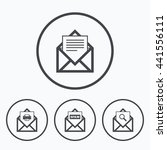 mail envelope icons. print... | Shutterstock . vector #441556111