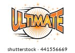 ultimate logo   Shutterstock .eps vector #441556669