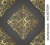 damask seamless pattern. 3d... | Shutterstock .eps vector #441557059