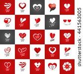 vector logo heart | Shutterstock .eps vector #441563005