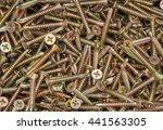 pile of gold screws | Shutterstock . vector #441563305