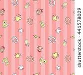 welcome baby girl decorative... | Shutterstock .eps vector #441578029