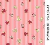 welcome baby girl decorative... | Shutterstock .eps vector #441578155