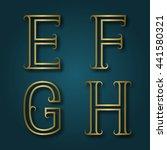 E  F  G  H Shiny Golden Letter...