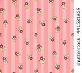 welcome baby girl decorative... | Shutterstock .eps vector #441581629