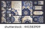 vector visiting card set... | Shutterstock .eps vector #441583909