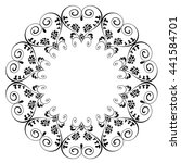 ornamental floral and swirl... | Shutterstock .eps vector #441584701