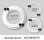 origami circle quote bubble.... | Shutterstock .eps vector #441585079