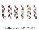 standing together office... | Shutterstock . vector #441590197