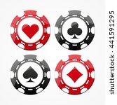 set of gambling chips  isolated ...   Shutterstock .eps vector #441591295
