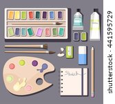 Watercolor Paints. Vector...