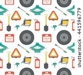 seamless pattern with lift jack ... | Shutterstock .eps vector #441596779