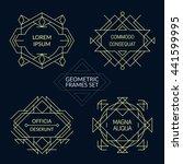 set of line art decorative... | Shutterstock .eps vector #441599995
