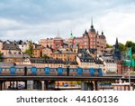 sodermalm dictrict in stockholm.... | Shutterstock . vector #44160136