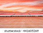 running track and bleachers at... | Shutterstock . vector #441605269