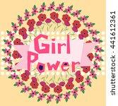 girl power vector illustration... | Shutterstock .eps vector #441612361