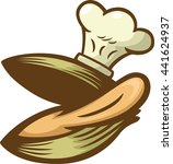 clam chef cartoon | Shutterstock .eps vector #441624937