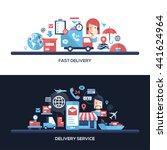delivery service website... | Shutterstock . vector #441624964