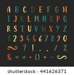 handwritten bold grunge font... | Shutterstock .eps vector #441626371