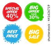 big sale  special offer  big... | Shutterstock . vector #441626719