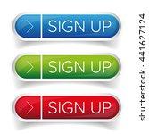 sign up button set | Shutterstock .eps vector #441627124