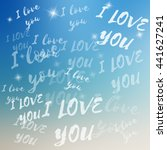 vector i love you template on... | Shutterstock .eps vector #441627241