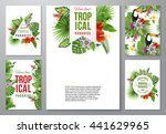 set of 5 highly detailed... | Shutterstock .eps vector #441629965