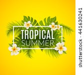 Tropical Summer Design Poster...
