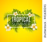Tropical Summer Design Poster...