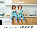 children twins. two little... | Shutterstock . vector #441634651