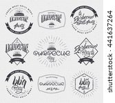 barbecue vector design elements ... | Shutterstock . vector #441637264
