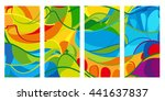 rio. 2016 set brochure colorful ... | Shutterstock .eps vector #441637837