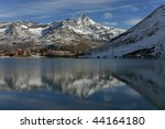 the lake and the village of... | Shutterstock . vector #44164180
