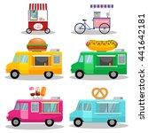 vector  ice cream cart.set of... | Shutterstock .eps vector #441642181