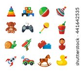 vector toys icons set isolate... | Shutterstock . vector #441642535
