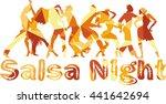 salsa nigh polygonal vector... | Shutterstock .eps vector #441642694