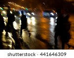 busy city street people on... | Shutterstock . vector #441646309