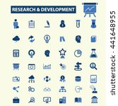 research development icons | Shutterstock .eps vector #441648955