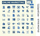 online marketing icons | Shutterstock .eps vector #441649051