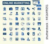 online marketing icons   Shutterstock .eps vector #441649051
