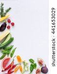 Food Background Border Frame O...