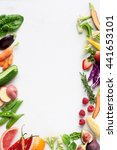 food background border flat lay ... | Shutterstock . vector #441653101