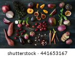 collection of fresh purple... | Shutterstock . vector #441653167
