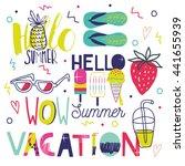 all for summer holidays. vector ... | Shutterstock .eps vector #441655939