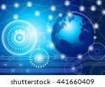 digital global technology... | Shutterstock .eps vector #441660409