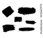 different brush strokes on... | Shutterstock .eps vector #441662974