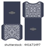set of 2 wedding invitation... | Shutterstock .eps vector #441671497