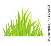 eco symbol of green grass.... | Shutterstock .eps vector #441672805