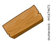 wood plank isolated... | Shutterstock .eps vector #441674671